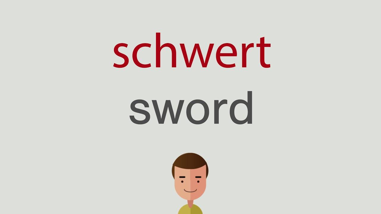 Schwert Englisch