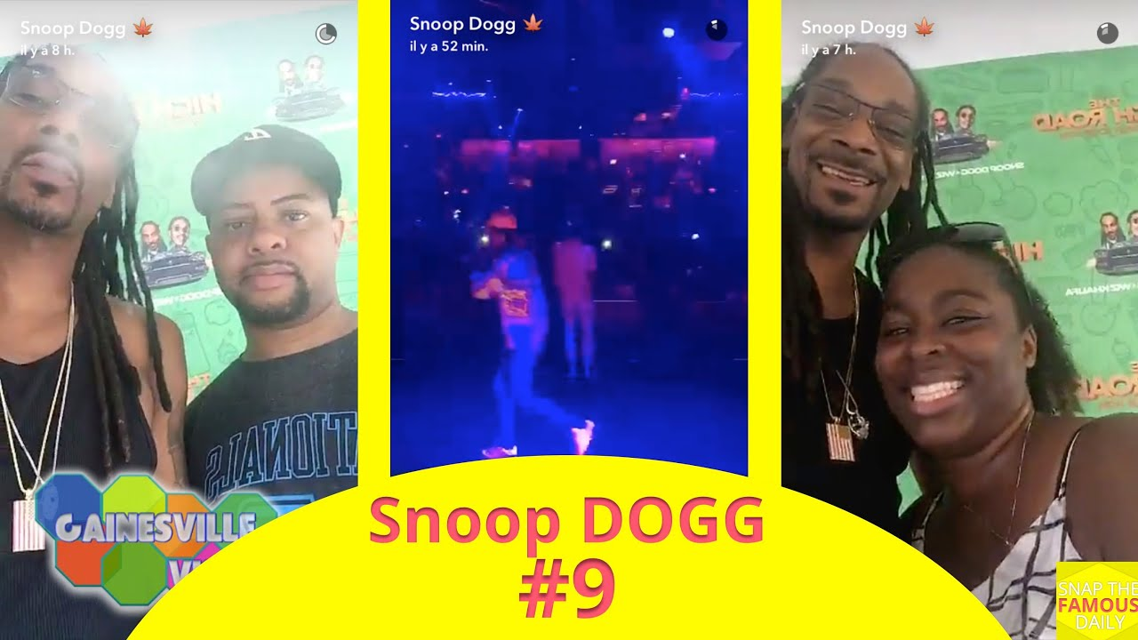 Snoop Dogg On His High Road Tour Snapchat July 31 2016 Youtube
