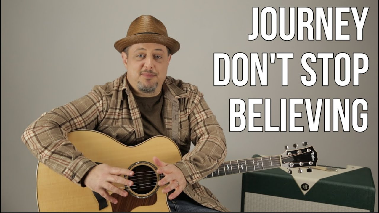 How To Play Dont Stop Believin By Journey On Guitar Youtube