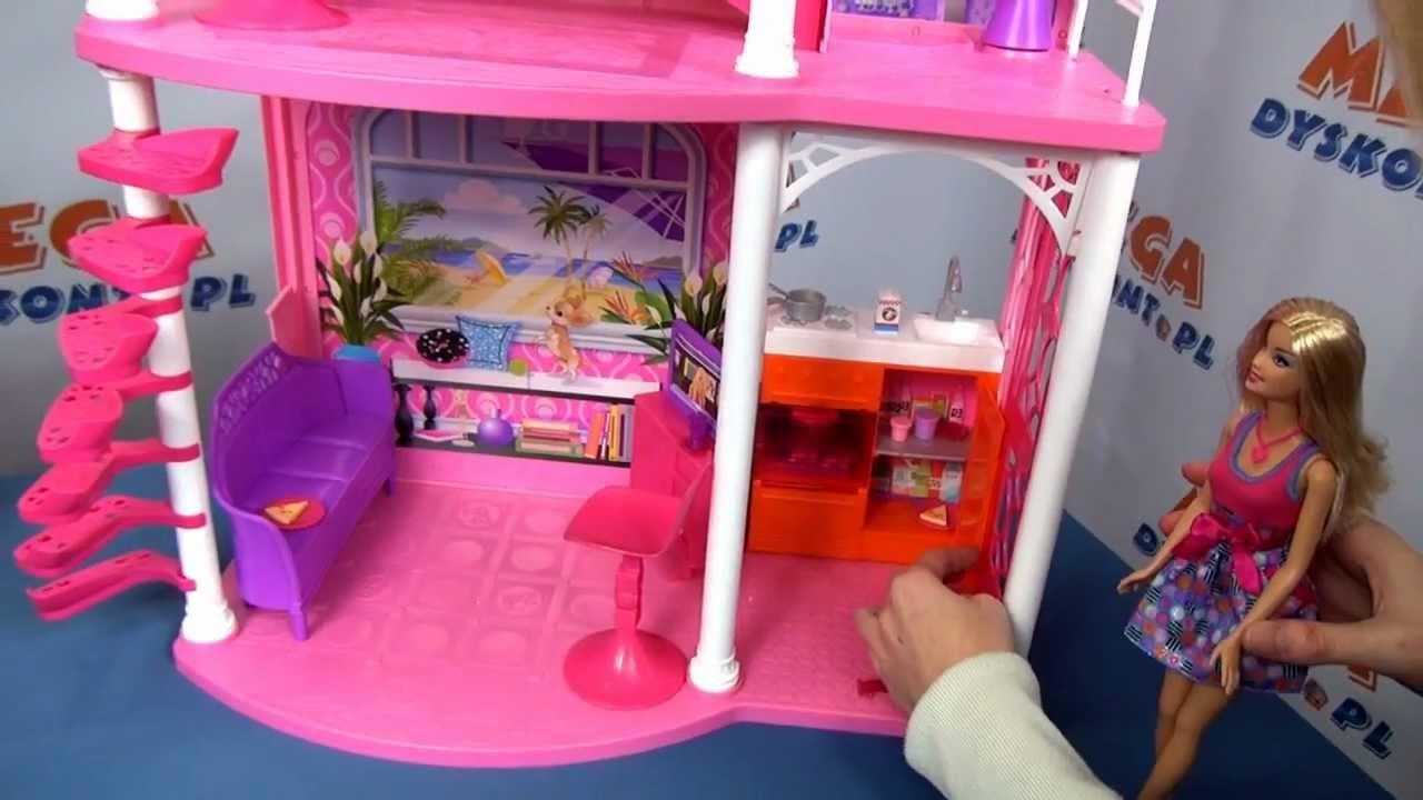 b9dcd36c9215 Piętrowy domek na plaży   lalka Barbie - Mattel - www.MegaDyskont.pl -  sklep z zabawkami - YouTube