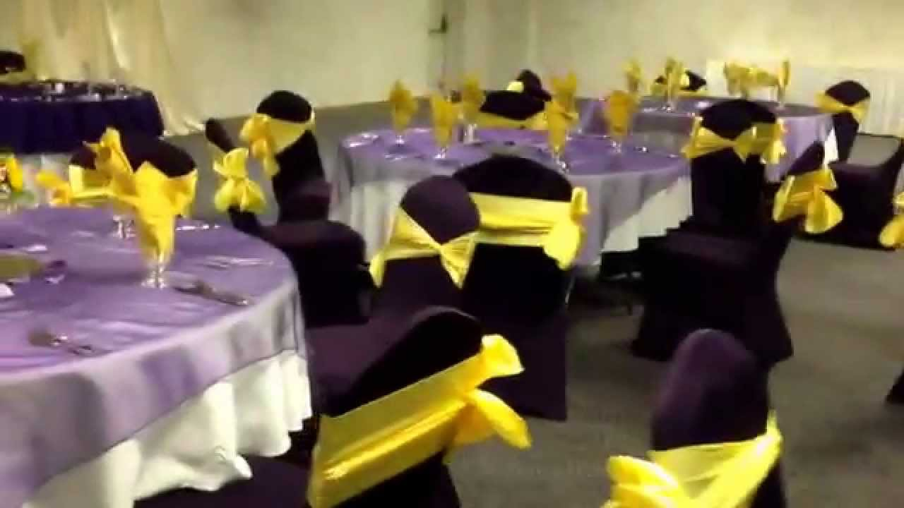 Purple and Canary Yellow Wedding Reception at Diamond Event Center