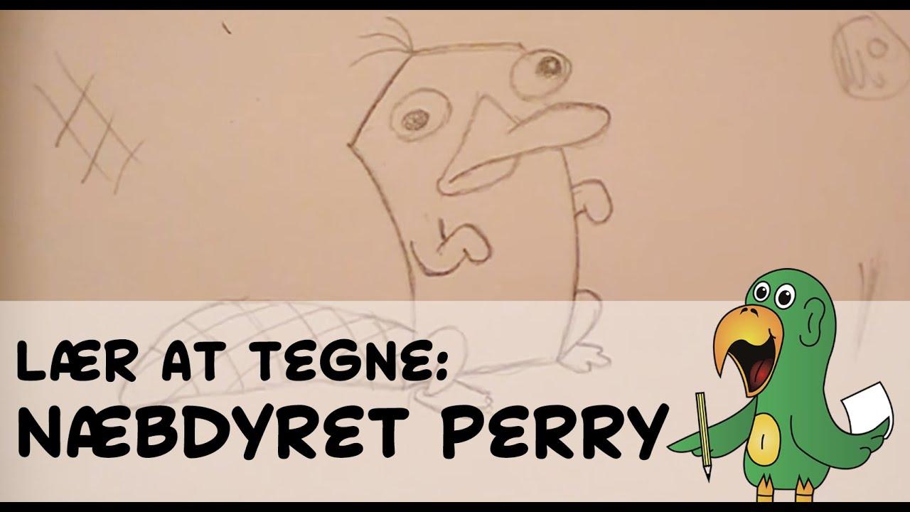 Lær at tegne NÆBDYRET PERRY | HVORDANTEGNERJEG.DK