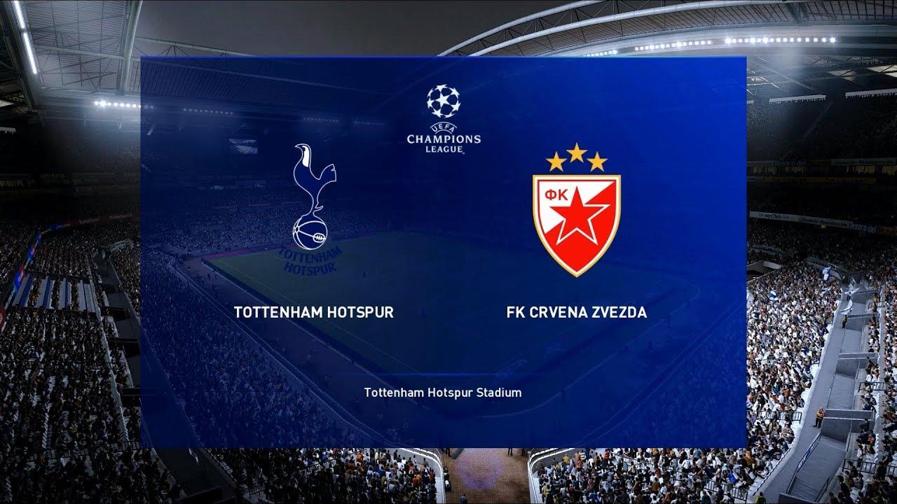 Tottenham Vs Crvena Zvezda Uefa Champions League Pes 2020