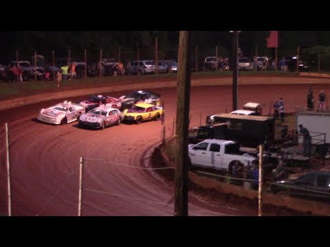 Throwing water balloons at Rusty Crocket before the race. - dirt track racing video image