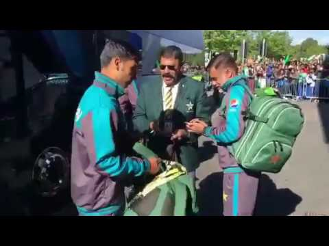 Pakistani team stadium entry for India vs Pakistan Champions trophy 2017