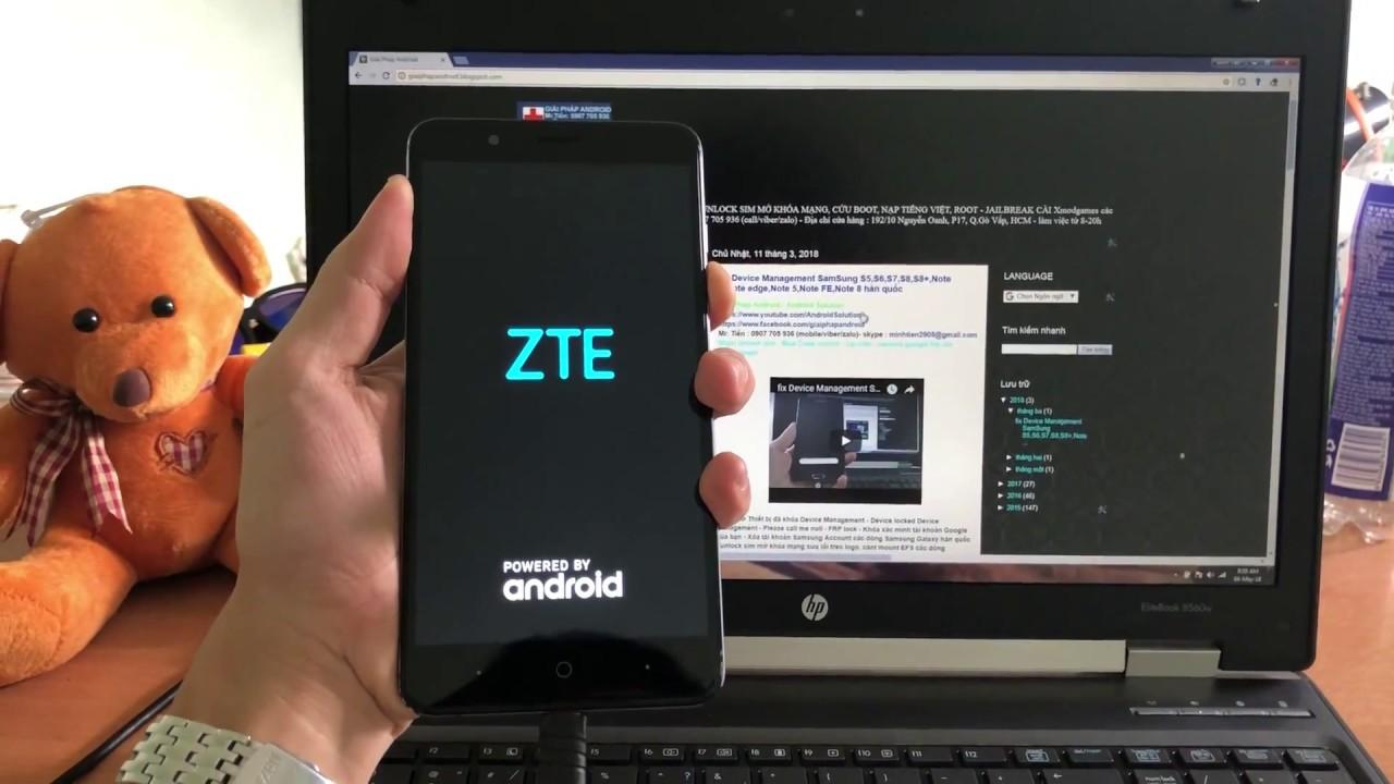 remove FRP lock ZTE BLADE Z MAX Z982 Google android 7 1 1 Nougat