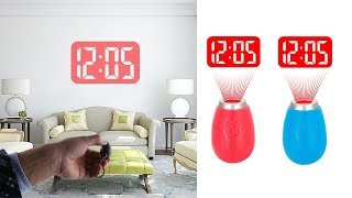 Electronic Mini Portable Digital LED Projection Time Clock