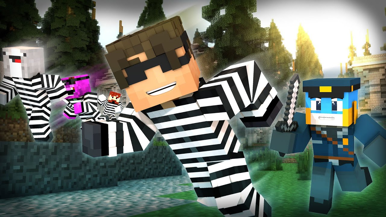 Minecraft Mini-Game: COPS N ROBBERS! (STOP WITH THE SQUIDS!) /w Facecam