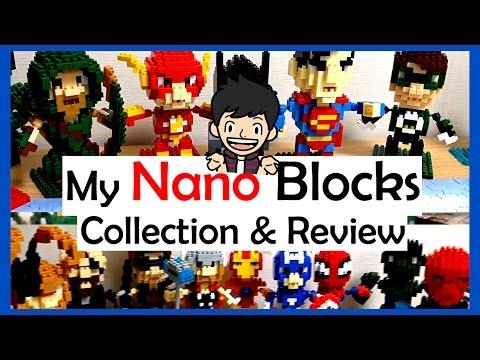 My NANO BLOCK Collection and Review: SUPER HERO MINI SERIES
