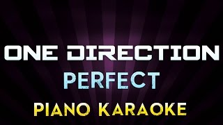One Direction - Perfect | Higher Key Piano Karaoke Instrumental Lyrics Cover Sing Along