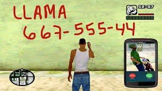 Esto ocurre si llamamos a los números secretos de GTA SA