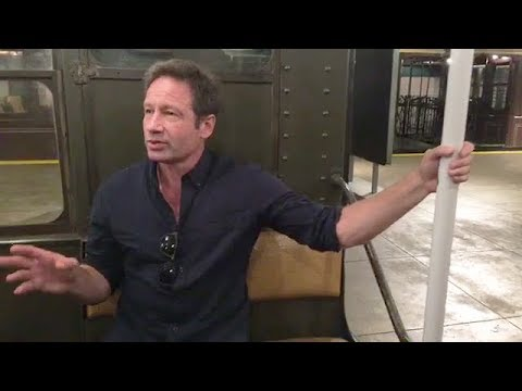 David Duchovny with Ginia Bellate for The NewYork Times