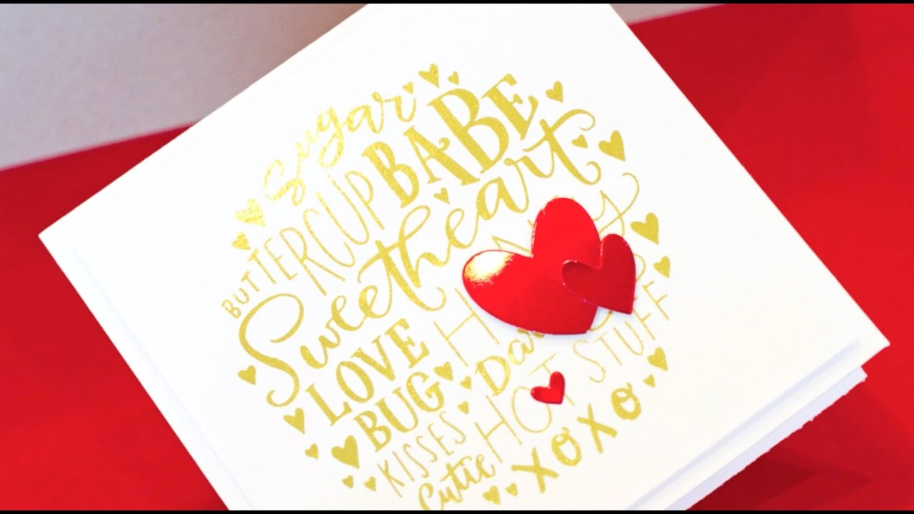 Easy Gold Foil with Laminator YouTube – Youtube Valentines Day Cards