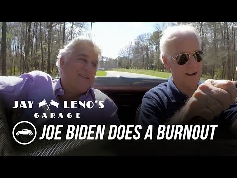 Joe Biden Does a Burnout In His Corvette Stingray – Jay Leno's Garage