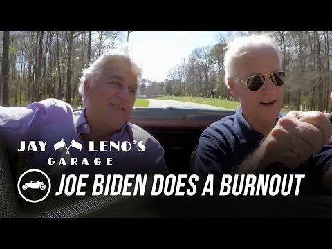 joe-biden-does-a-burnout-in-his-corvette-stingray---jay-leno's-garage