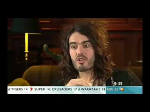 Russell Brand interview on Weekend Sunrise (full sexy interview)