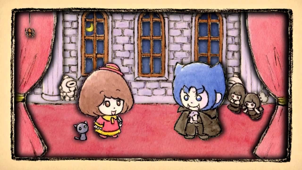 おばけ絵本アニメ ※くろねこ注意 『ドラキュラと舞踏会のおひめさま』
