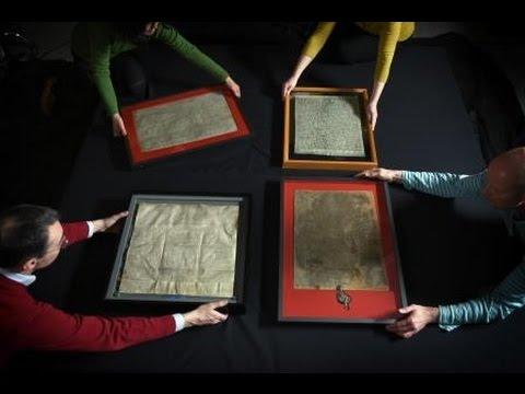 Bringing together the four surviving original Magna Carta manuscripts