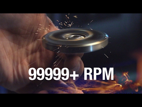 99999+ RPM Fidget Spinner Toy //Cause I Can - YouTube