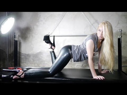 German girl unboxing high heels - 1 3