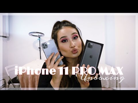 UNBOXING MY NEW IPHONE 11 PRO MAX (Space Grey) + Setup!
