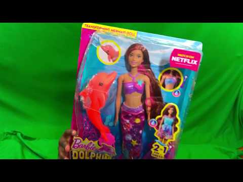 BARBIE Dolphin Magic Transforming Mermaid ISLA DOLL TOY REVIEW - Kids Play With Toys
