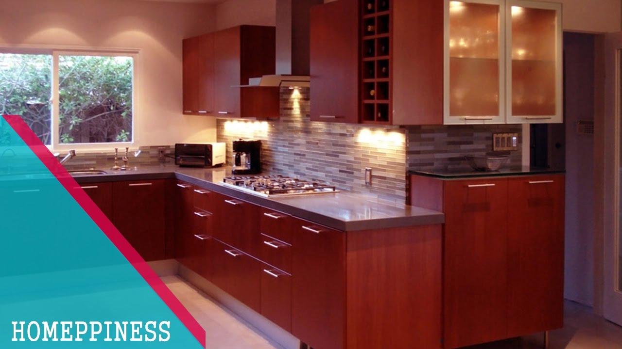 NEW DESIGN 2017 20 Modern Cherry Red Kitchen Cabinets