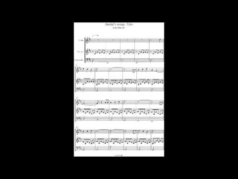 Annies song John Denver string quartet / trio arrangement & sheet music