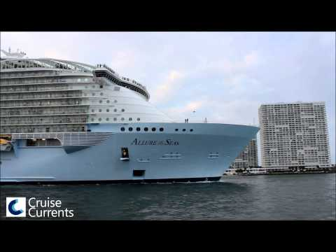 Allure of the Seas Sailing Away From Port Everglades