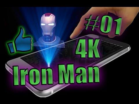 Hologramme Pyramide Téléphone Iron man 4K
