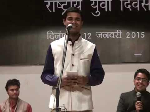 kavi kartikeya Shukla @kavi Sammelan-NIT bhopal