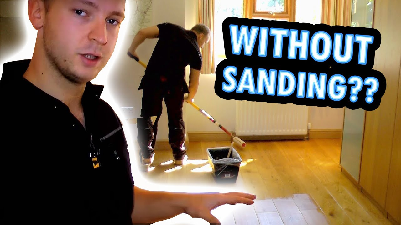 How To Refinish A Wood Floor Without Sanding Under 1 Hour Youtube