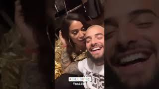 Maluma y Anitta en secretos Gira #1111 Chile