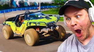 RACING THE WORTHOG FROM HALO IN FORZA HORIZON 4