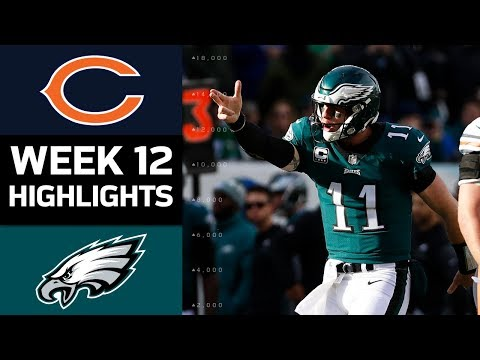 Bears vs. Eagles | NFL Week 12 Game Highlights