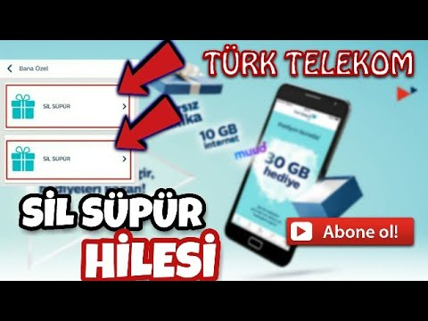 Türk Telekom Sil Süpür Hilesi 2 Defa Sil Süpür, ANDROİD EĞİTİM
