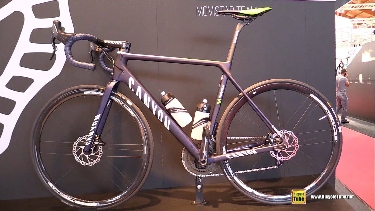 572d7dd795a 2016 Canyon Ultimate CF SLX Movistar Team Campagnolo Disk Project -  Walkaround - 2016 Eurobike