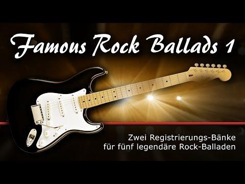 Famous Rock Ballads 1 - Registrierungen für Tyros 5 und 4 von Soundwonderland