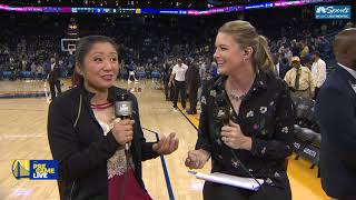 Red Panda Sits Down With Kerith Burke | Warriors Pregame Live