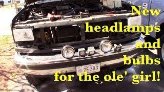 94 Bronco, remove and replace headlamps (Sylvania ZXE 9007)