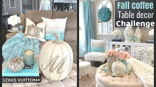 Fall Coffee Table Decor Challange 2019