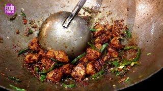 Chilli Chicken Restaurant Style In Just 2 Minutes  Easy Chili Chicken Gravy Indian Street Food