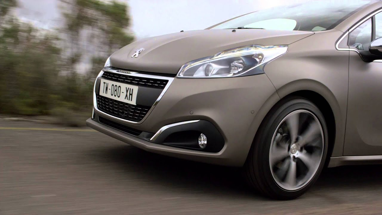peugeot 208 ice grey restyl e 2015 facelift vid o. Black Bedroom Furniture Sets. Home Design Ideas