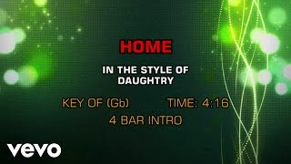Daughtry - Home (Karaoke)