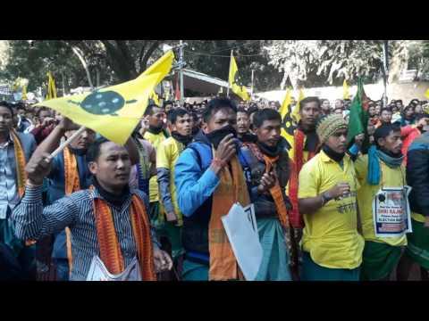 BODOLAND slogans at New Delhi Jantar Mantar