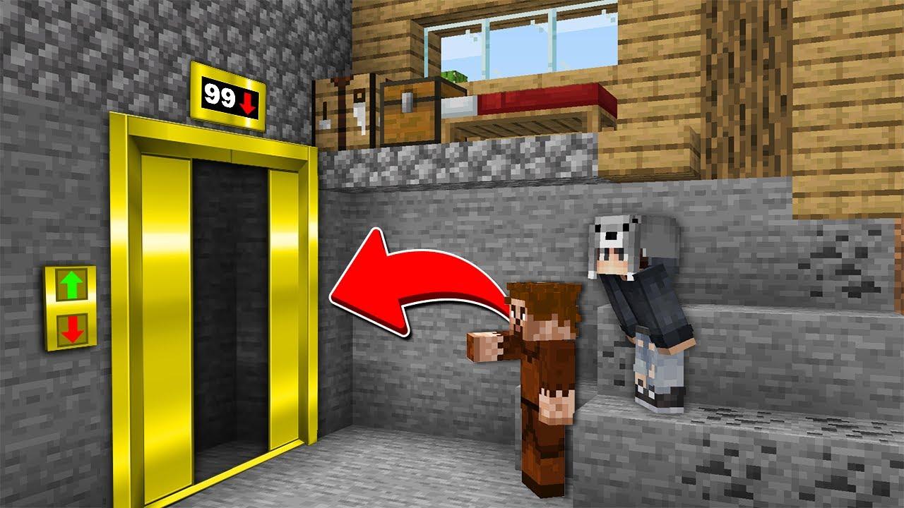 EVİMİN ALTINDA ALTIN ASANSÖR BULDUM 😱 - Minecraft