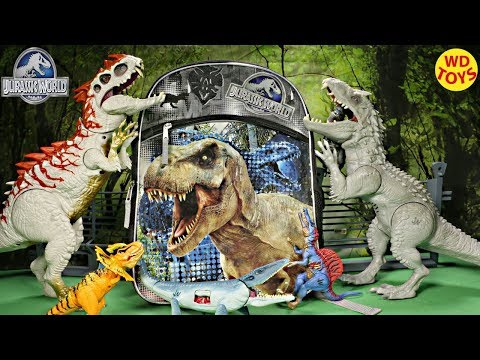 New Giant Backpack Jurassic World Surprise Toys Top 10 Worlds Largest Surprise Backpack  Unboxing