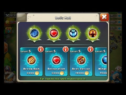 Castle Clash Soldier Title And Magic Every Spell In The Game In Action