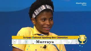2021 Scripps National Spelling Bee Finals Winning Moment