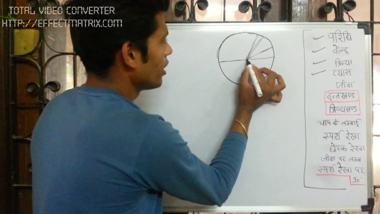 Best Basic Circle Rules U0026 Parts In Hindi (Radius Sector Chord Diameter  Circumference) Tricks   YouTube